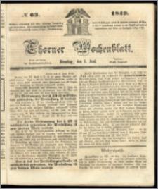 Thorner Wochenblatt 1849, No. 63 + Beilage