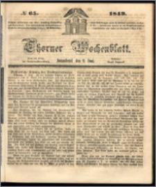 Thorner Wochenblatt 1849, No. 65 + Beilage