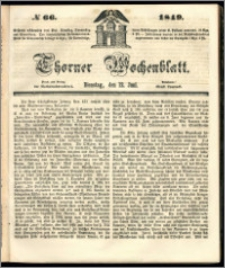 Thorner Wochenblatt 1849, No. 66