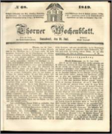 Thorner Wochenblatt 1849, No. 68