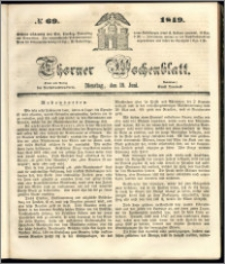 Thorner Wochenblatt 1849, No. 69 + Beilage