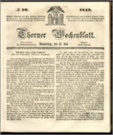 Thorner Wochenblatt 1849, No. 70 + Beilage