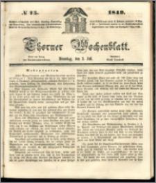 Thorner Wochenblatt 1849, No. 75 + Beilage