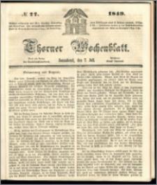 Thorner Wochenblatt 1849, No. 77 + Beilage