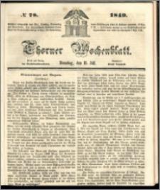 Thorner Wochenblatt 1849, No. 78