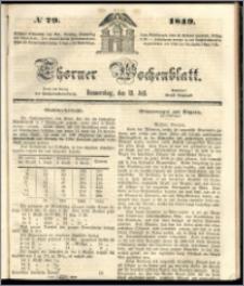 Thorner Wochenblatt 1849, No. 79