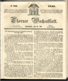 Thorner Wochenblatt 1849, No. 80