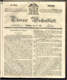 Thorner Wochenblatt 1849, No. 81