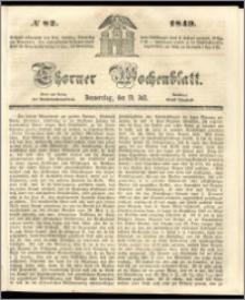 Thorner Wochenblatt 1849, No. 82