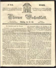 Thorner Wochenblatt 1849, No. 84