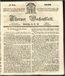 Thorner Wochenblatt 1849, No. 85