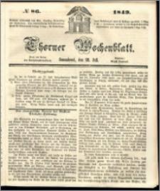 Thorner Wochenblatt 1849, No. 86 + Beilage