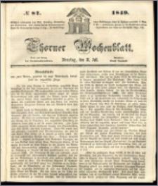 Thorner Wochenblatt 1849, No. 87