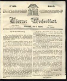 Thorner Wochenblatt 1849, No. 89 + Beilage