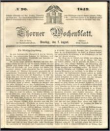 Thorner Wochenblatt 1849, No. 90