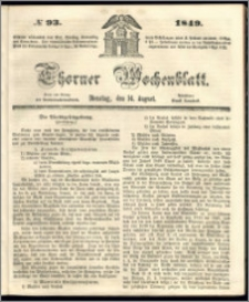 Thorner Wochenblatt 1849, No. 93