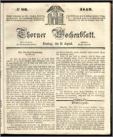 Thorner Wochenblatt 1849, No. 96