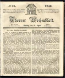 Thorner Wochenblatt 1849, No. 99