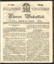 Thorner Wochenblatt 1849, No. 101