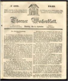 Thorner Wochenblatt 1849, No. 102