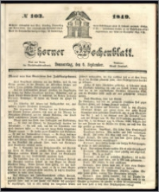 Thorner Wochenblatt 1849, No. 103
