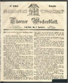 Thorner Wochenblatt 1849, No. 104 + Beilage