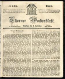 Thorner Wochenblatt 1849, No. 105