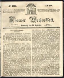 Thorner Wochenblatt 1849, No. 106