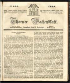Thorner Wochenblatt 1849, No. 107