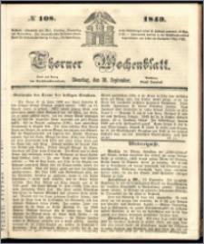 Thorner Wochenblatt 1849, No. 108