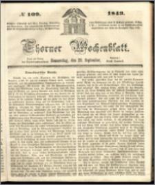Thorner Wochenblatt 1849, No. 109