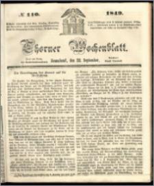 Thorner Wochenblatt 1849, No. 110 + Beilage