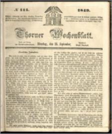 Thorner Wochenblatt 1849, No. 111