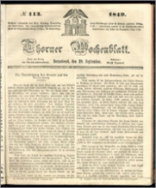 Thorner Wochenblatt 1849, No. 113