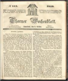 Thorner Wochenblatt 1849, No. 115 + Beilage