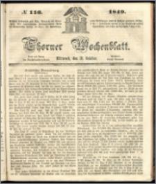 Thorner Wochenblatt 1849, No. 116 + Beilage