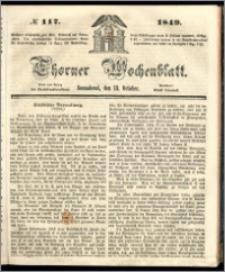 Thorner Wochenblatt 1849, No. 117 + Extra Beilage
