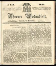 Thorner Wochenblatt 1849, No. 119 + Beilage