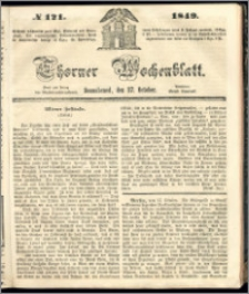 Thorner Wochenblatt 1849, No. 121 + Beilage