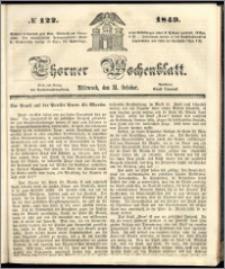 Thorner Wochenblatt 1849, No. 122 + Beilage