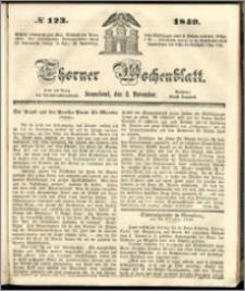 Thorner Wochenblatt 1849, No. 123 + Beilage