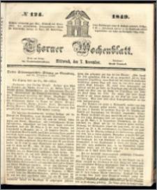 Thorner Wochenblatt 1849, No. 124 + Beilage