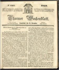 Thorner Wochenblatt 1849, No. 125 + Beilage