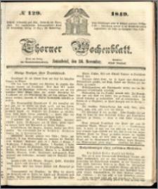 Thorner Wochenblatt 1849, No. 129 + Beilage