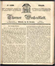 Thorner Wochenblatt 1849, No. 130 + Beilage