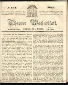 Thorner Wochenblatt 1849, No. 131 + Beilage