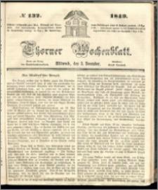 Thorner Wochenblatt 1849, No. 132 + Beilage