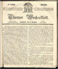 Thorner Wochenblatt 1849, No. 133 + Beilage