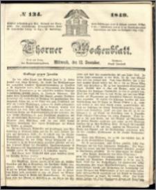 Thorner Wochenblatt 1849, No. 134 + Beilage