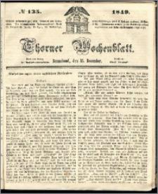 Thorner Wochenblatt 1849, No. 135 + Beilage